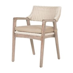 Orient Express Furniture 6810.WW/LGRY New Wicker Lucia Arm Chair