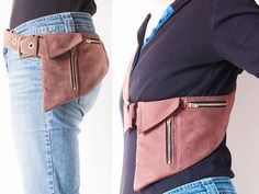 Phone Belt Pocket Pattern or hipster bag or fanny pack sewing pattern Intermediate Pattern by Lidija Miklavcic - iCreateFlix.com
