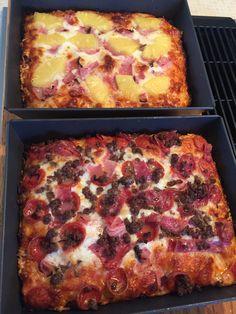 A Couple Detroit Style Pizzas for Football Sunday #pizza #food #foodporn #yummy #love #dinner #salsa #recipe