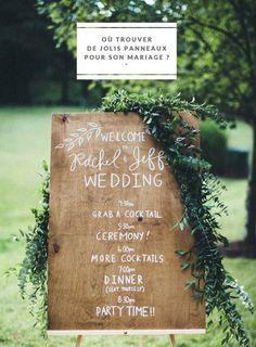 Ou trouver de jolis panneaux pour son mariage - Des adresses à découvrir sur le blog mariage www.lamarieeauxpiedsnus.com