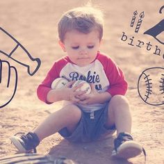 We LOVE see your birthday milestones! How sweet is this baseball themed b . - Big Kid Milestones + Firsts - Pregnancy Development, Baby Development, Toddler Growth Chart, Baby Photo App, Pregnancy Bump, Pregnancy Announcements, Pregnancy Photos, Motto, 2nd Birthday Photos