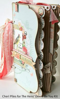 """""""BE YOU"""" Album Kit By Cheri Piles   using My Minds Eye Be Happy collection. This kit includes our new HIP CHIC album, all of the papers, stickers and embellishments. All pages are pre-cut for you and come with Cheri's fully illustrated instructions."""