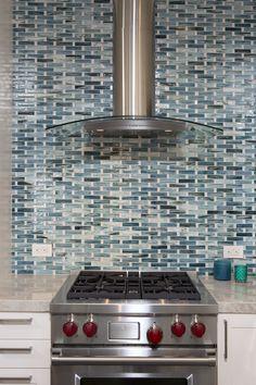 Vivid Blue Kitchen Backsplash Project   Architectural Ceramics