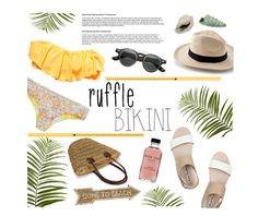 """Ruffled Up Swimwear"" by that-chic-girl ❤ liked on Polyvore featuring Acne Studios, Billabong, Pier 1 Imports, O'Neill, Universal Lighting and Decor, Bobbi Brown Cosmetics, Retrò, polyvorecontest and ruffledswimwear"