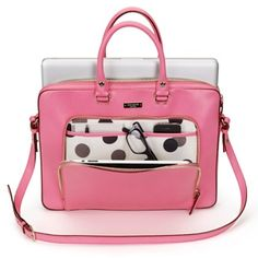 """Kate Spade Janine Notebook Carrying Case - Love the polka dots! .......Follow Pink Bags: https://www.pinterest.com/lyndanna/pink-handbags/...  Get Your Free Course """"Viral   Images for Pinterest"""" Now at: CashForBloggers.com"""