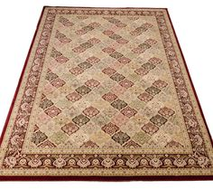 Kathy Ireland - Empress Garden ANT02 Multi-Colour Rugs..a pretty design of squares of flowers when you view the closeup....Nan would have chosen this one!!