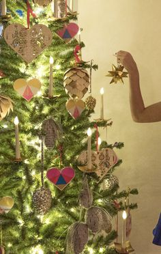 all of the trimmings for the perfect christmas tree love this gold metallic star ornament