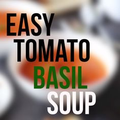 The easiest Tomato Basil Soup EVER and it's so fresh & vibrant. Made with just 4 ingredients (plus salt, pepper & optional olive oil) and it only takes 10 minutes to make! Fresh Tomato Soup, Vegan Tomato Soup, Tomato Soup Recipes, Vegetarian Soup, Vegan Soups, Healthy Soup, Vegetarian Recipes, Healthy Recipes, Recipe For Tomato Basil Soup