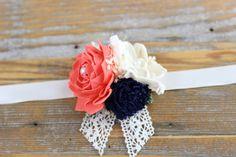 Wedding Corsage Wrist Corsage Sola Flower by CarolinaRosaDesigns