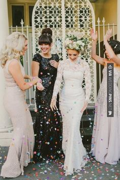 That dress though!! yay black and white wedding