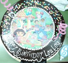 Dora and family bday cake