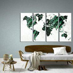 Large Push Pin World Map Wall Art Canvas, Print Large Wall Art Watercolor World Map Art, Print Large Map, Print Extra Large Wall Art World Map Canvas, World Map Wall Art, Canvas Wall Decor, Canvas Artwork, Modern Wall Paneling, Push Pin World Map, Water Color World Map, Canvas Designs, Extra Large Wall Art