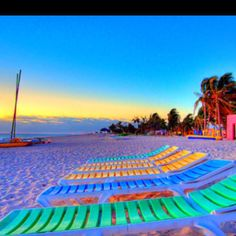 colorful lounges