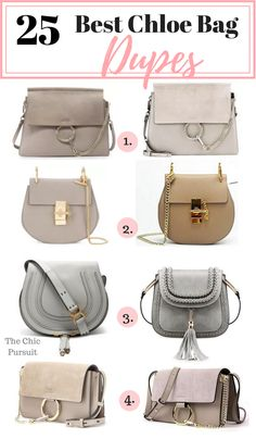 The 25 Best Chloe Bag Dupes & Lookalikes - These affordable handbags are the best on the market! We've found dupes for Chloe Drew, Chloe Faye, Chloe Nile, Chloe Marcie, Chloe Pixie and more! Chloe Bag, Sac Chloe Faye, Marcie Chloe, Chloe Handbags, Burberry Handbags, Purses And Handbags, Leather Handbags, Prada Handbags, Luxury Handbags