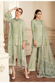 Embroidered Front Embroidered Sleeves Plain Back Embroidered Sleeves Patch Embroidered Front Patch Embroidered Back Patch Embroidered Dupatta Patch Pcs) Embroidered Net Dupatta Trousers Pakistani Fashion Party Wear, Pakistani Dress Design, Pakistani Outfits, Indian Outfits, Pakistani Gowns, Dress Brokat, Kebaya Dress, Sarara Dress, Kebaya Hijab