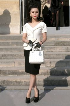 Fan Bingbing - Celebrities At The Dior Fashion Show In Paris 2
