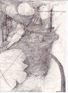 "Saatchi Art Artist Dorota Ziolko; Drawing, ""espion par nuit"" #art"