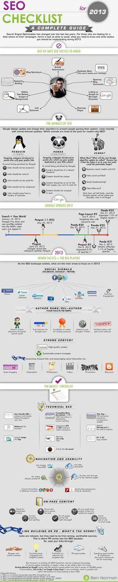 [#Infographie] Conseils #SEO 2013 : le référencement en 2013, ce qu'il faut faire et ce qu'il faut éviter