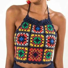 Granny square crop top inspiration