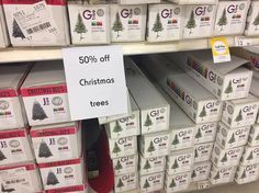 #ChristmasTrees are all #halfprice at #Kmart. While stocks last.