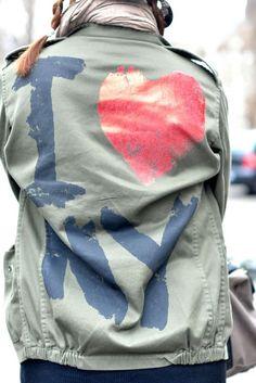 Veste militaire -  I Love NY