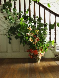 summery staircase garland by emily thompson