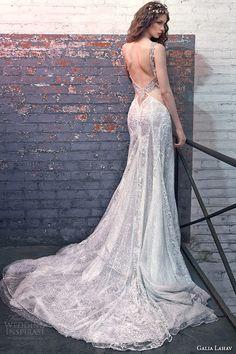 galia lahav spring 2016 bridal dresses plunging deep v neck low cut back mermaid wedding dress jade back view
