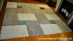 A Scoop of Sherbert: large area rug DIY for under $30