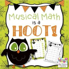 """Halloween Musical Math is a Hoot! {6 Owl-Themed Music Math Worksheets} These sheets will make a """"positive"""" impact on your students, """"subtract"""" their doubts about note values, and """"multiply"""" their confidence!"""