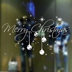 2016 - New Year Snowflake Christmas Party Wall Stickers Shop Window Stickers Decorative Glass Door Sticker Decorations (1)
