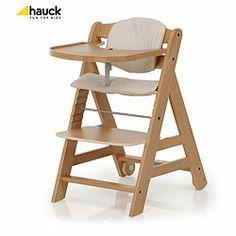 Hauck Beta Highchair, Natural Wood