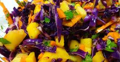 Red Cabbage and Mango Slaw - Nutrition Studies Plant-Based Recipes