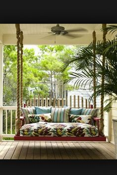 I would LOVE a porch swing.......my Mamaw and Papaw had porch swings.....good memories...