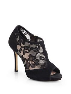 9e5e5d723 Kate Spade New York Florentina Suede   Lace Ankle Boots from Saks Fifth  Avenue - Styhunt