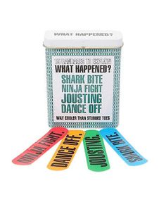"""What Happened? Bandages  Because """"DANCE OFF"""" sounds so much better than, """"I tripped over the cat and hit my head on the coffee table."""" Clumsy people deserve to be cool, too.  To buy: $7, urbanoutfitters.com."""