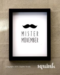 Mister Movember art print Urban Lifestyle  www.powerhousegrowers.com info@powerhousegrowers.com @Pam Naugle Chastain Growers