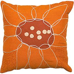 @Overstock - Beige accents contrast with the bright orange and red of the modern-inspired flower design of this decorative pillow. Crafted in India, this cotton and jute accent pillow is perfect for livening up any couch or bed.   http://www.overstock.com/Home-Garden/Mandurah-Orange-Red-Flower-Decorative-Pillow/6417132/product.html?CID=214117 $41.09