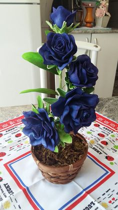 Flor  feita de eva