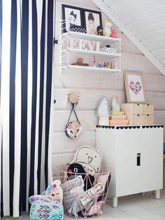 kids room girl hay ikea string system pastel