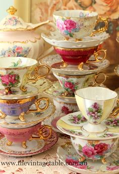 Gorgeous cups and saucers