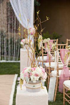 Ceremony Aisle Decor - Ceremony Decor Ideas | Wedding Planning, Ideas & Etiquette | Bridal Guide Magazine