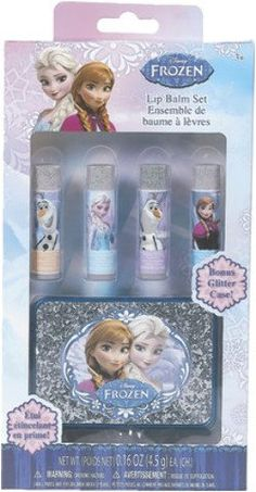 Disney FrozenGlitter Box with Lip Balm Case Pack 6 -- Click for Special Deals #DisneyMakeup Disney Makeup, Special Deals, Vanities, Kids Bedroom, Lip Balm, Lunch Box, Frozen, Packing, Lips