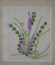 embroidered lavender