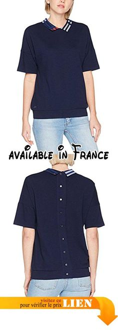 B07283Y315 : Lacoste PF7614 Polo Femme Bleu (Marine) 44 (Taille Fabricant : 44).