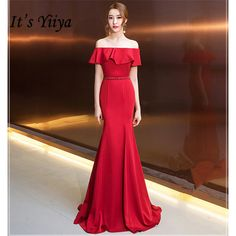 It's YiiYa Evening Dress Long Elegant Tunic Mermaid Women Party Dress Boat Neck Cap Sleeve Robe de Soiree Plus Size 2019 . If You Want to get more ideas just click picture. Navy Evening Gown, Cheap Evening Dresses, Mermaid Evening Dresses, Party Dresses For Women, Prom Party Dresses, Sexy Dresses, Formal Dresses, Dress Long, Dress Up