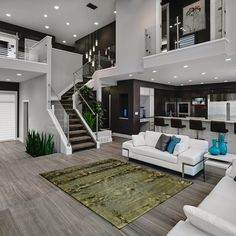 House Interior Design Ideas - Home Design Dream Home Design, Modern House Design, Modern Interior Design, Contemporary Interior, Interior Ideas, Modern Living Room Design, Modern White Living Room, Kitchen Contemporary, Simple Interior