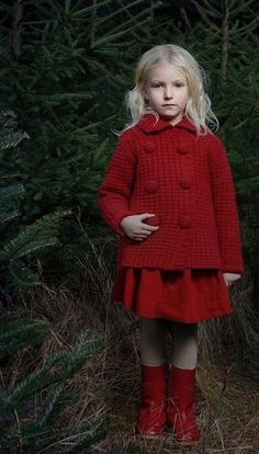 Pinterest: Forgotten Stories || Constance Contraire Benedict || a blonde girl with a red outfit