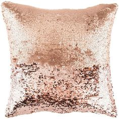 Rose Gold Mermaid Sequin Pillow Cover ($13) ❤ liked on Polyvore featuring home, home decor, mermaid home decor, rose gold home decor and rose gold home accessories