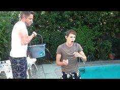 Robbie Kay and Sean Maguire complete the ice bucket challenge for ALS. What do these two go on vacation together?? I want to go on that vacation...