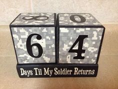 Countdown Blocks Deployment Christmas by KimsKustomKreations1, $25.00